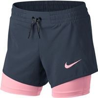Nike Girls 2in1 Shorts - Navy/Pink