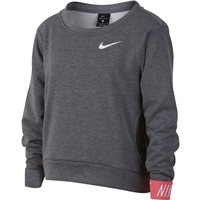 Nike Girls Dry Studio Pullover - Grey