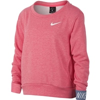 Nike Girls Dry Studio Pullover - Pink