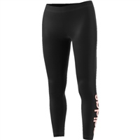 Adidas Womens Essential Linear Tights - Black/Peach