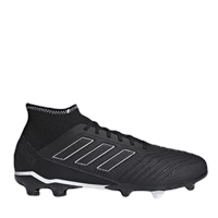 Adidas Predator 18.3 Firm Ground Boots - Black/Black/White