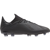 Adidas X 18.2 FG Football Boots - Black/Black