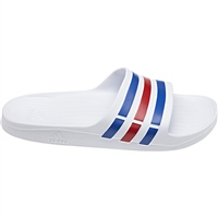 Adidas Mens Duramo Slides - White/Blue/Red