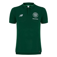 New Balance Celtic FC Leisure Polo 18/19 - Green