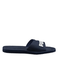 Puma Mens Purecat Slides - Navy/White