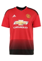 Adidas Manchester Utd Home Jersey 18/19 - Kids - Red/Black