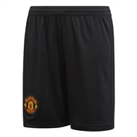 Adidas Manchester Utd Home Shorts 18/19 - Kids - Black