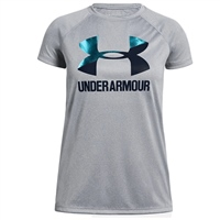 Under Armour Boys Big Logo Tee - Grey