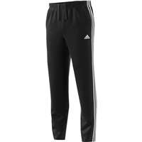 Adidas Mens Essentials 3S Fleece Track Pants - Black/White
