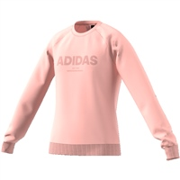 Adidas Girls All Caps Sweat - Coral