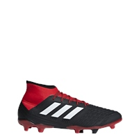 Adidas Predator 18.2 FG Adults - Black/White/Red