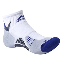 More Mile Diego Running Sock - White/Blue/Silver