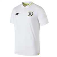 New Balance Ireland FAI Elite Leisure Polo - White