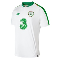 New Balance Ireland FAI S/S Away Jersey 18/19 - Kids - White