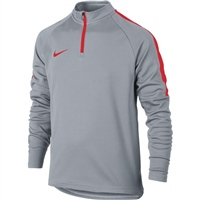 Nike Kids Dry Academy Drill Top - Grey/Red