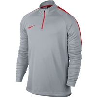 Nike Mens Dry Academy Drill Top - Grey/Red