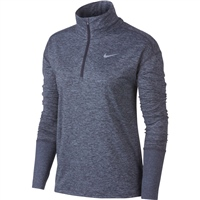 Nike Womens Element H/Zip Top - Grid Iron/Asphalt