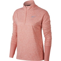 Nike Womens Element H/Zip Top - Pink