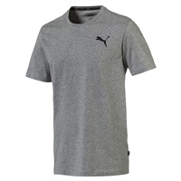 Puma Mens Ess S/Logo Tee - Grey Heather