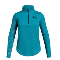 Under Armour Girls Tech 1/2 Zip Top - Sky
