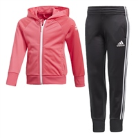 Adidas Girls Knitted Tracksuit - Pink/Black
