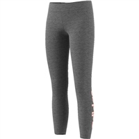 Adidas Girls Linear Tights - Grey/Pink
