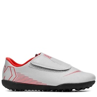 Nike Jr Vapor 12 Club PS (V) Turfs - Grey/Crimson