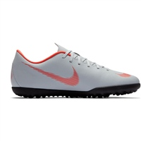 Nike VaporX 12 Club TF Turfs - Grey/Crimson