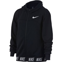 Nike Girls Dry Studio FZ Hoodie - Black/White