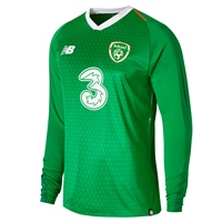 New Balance FAI Ireland Home Jersey 18/19 L/S - Green/Orange/White