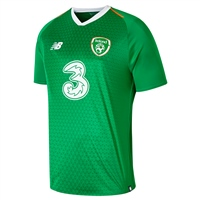 New Balance FAI Ireland Kids Home Jersey 18/19 S/S - Green/Orange/White