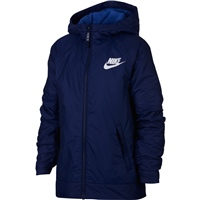 Nike Boys Full Zip Fleece Lined Jacket - Royal