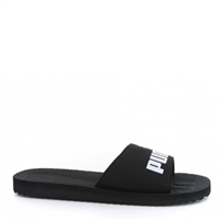 Puma Mens Purecat Slides - Black/White