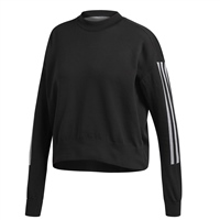 Adidas Womens Id Knit Sweat Top - Black