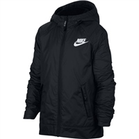 Nike Boys Full Zip Fleece Lined Jacket - Black/White