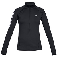 Under Armour Womens Cold Gear Graphic 1/2 Zip - Black
