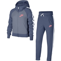 Nike Girls NSW Track Suit PE - Blue/Grey