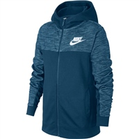 Nike Boys Advance Full Zip Hoodie - Blue/White