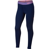 Nike Girls Pro Warm Girls Tights - Navy/Pink