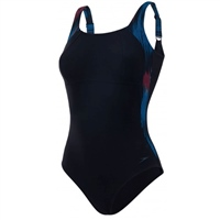 Speedo SPDSCU Lunarlustre 1PC Swimsuit - Black/Blue