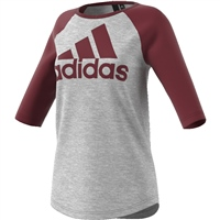 Adidas Womens SID T-Shirt - Grey/Maroon