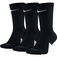 Nike Elite Crew Basketball Sock - 3pk - Black