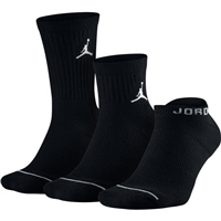 Nike Jordan Waterfall Socks -  3pk - Black