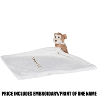 Mumbles Personalised Monkey Comforter - Cream