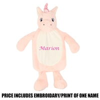 Mumbles Personalised Unicorn Hot Water Bt. Cover - Pink