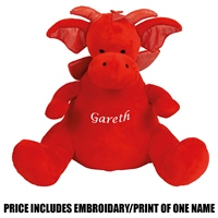 Mumbles Personalised Dragon - Red
