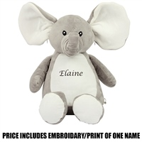 Mumbles Personalised Elephant - Grey