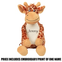Mumbles Personalised Giraffe - Brown