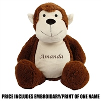 Mumbles Personalised Monkey - Brown