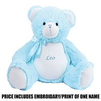 Mumbles Personalised New Baby Bear - Blue